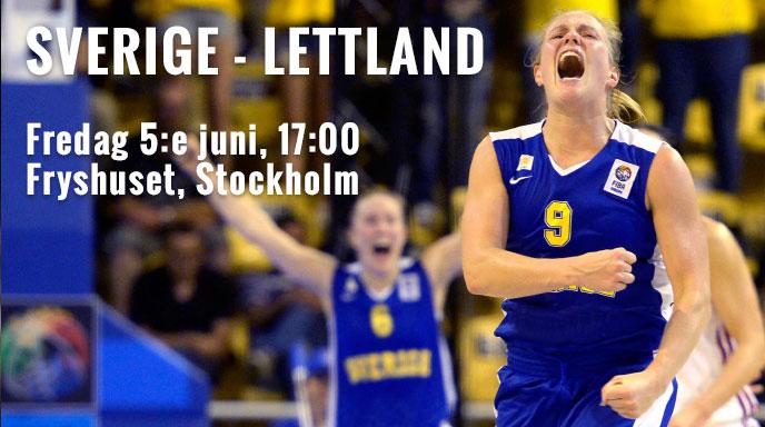 Sverige Lettland 5:e juni 2015